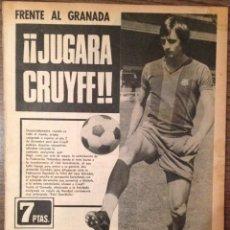 Coleccionismo deportivo: CRUYFF. CRUIJFF. DEBUT 1973. MUNDO DEPORTIVO. PERFECTO ESTADO. Lote 111332107