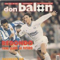 Coleccionismo deportivo: REVISTA DON BALON.N 892.REDONDO.POSTER RCD.ESPAÑOL 92/93.. Lote 111414471