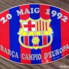 Coleccionismo deportivo: FC BARCELONA. WEMBLEY 92. ADHESIVO SIN PEGAR. ESTADO IMPECABLE.. Lote 111431459