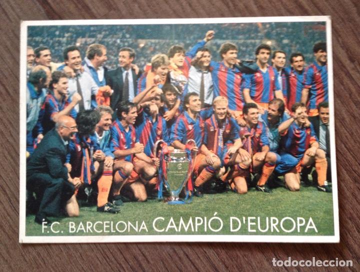 FC BARCELONA. WEMBLEY 92. POSTAL. BUEN ESTADO. (Coleccionismo Deportivo - Revistas y Periódicos - Mundo Deportivo)