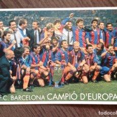 Coleccionismo deportivo: FC BARCELONA. WEMBLEY 92. POSTAL. BUEN ESTADO.. Lote 111431579