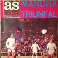 Coleccionismo deportivo: CRUYFF. AS COLOR. FC BARCELONA 74. 0-5. PERFECTO ESTADO. Lote 111512979