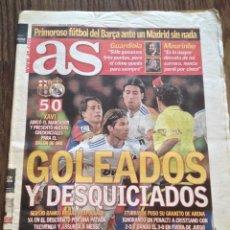 Coleccionismo deportivo: MESSI FC BARCELONA 5-0 AL REAL MADRID. AS. BUEN ESTADO.. Lote 111515395