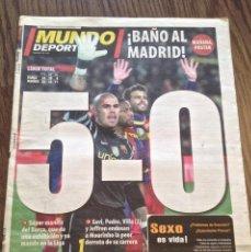 Coleccionismo deportivo: MESSI FC BARCELONA 5-0 AL REAL MADRID. BUEN ESTADO.. Lote 111515687
