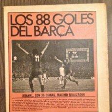 Coleccionismo deportivo: FC BARCELONA ESPECIAL TODOS LOS GOLES 78-79. MUY BUEN ESTADO.. Lote 111518115