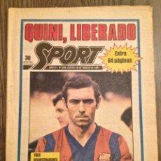 Coleccionismo deportivo: SPORT. QUINI LIBRE. BUEN ESTADO.. Lote 111527179