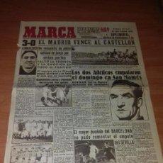 Coleccionismo deportivo: DIARIO MARCA. SUPLEMENTO. Nº375. 8-FEBRERO-1944. 3-0 EL MADRID VENCE AL CASTELLON.. Lote 111826363