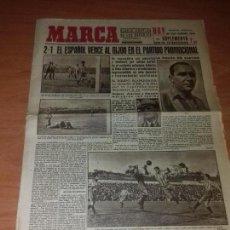 Coleccionismo deportivo: DIARIO MARCA. SUPLEMENTO. Nº125. 20-ABRIL-1943. 2-1 EL ESPAÑOL VENCE AL GIJON.. Lote 111921695