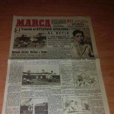 Coleccionismo deportivo: DIARIO MARCA. SUPLEMENTO. Nº101. 23-MARZO-1943. 5-1 VENCIO EL ATLETICO AVIACION AL BETIS.. Lote 206961171