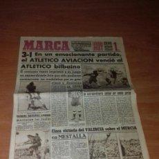 Coleccionismo deportivo: DIARIO MARCA. SUPLEMENTO Nº482. 13-JUNIO-1944. 3-1 EN UN EMOCIONANTE PARTIDO, EL ATLETICO AVIACION.. Lote 111927403