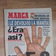 Coleccionismo deportivo: DIARIO MARCA 8 ENERO 1995-REAL MADRID 5 BARCELONA 0-ZAMORANO-LUIS ENRIQUE-AMAVISCA. Lote 111997987