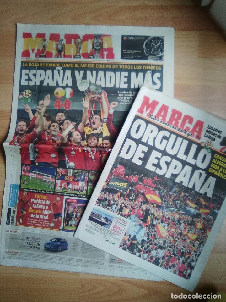 DIARIO MARCA 2 JULIO 2012-ESPAÑA CAMPEONA DE EUROPA-EUROCOPA-ITALIA-CON SUPLEMENTO ESPECIAL (Coleccionismo Deportivo - Revistas y Periódicos - Marca)