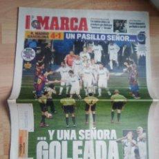 Coleccionismo deportivo: DIARIO MARCA 8 MAYO 2008-REAL MADRID 4 BARCELONA 1-PASILLO . Lote 117392556