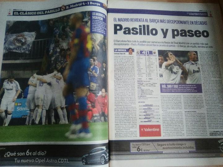 Coleccionismo deportivo: DIARIO MARCA 8 Mayo 2008-Real MAdrid 4 Barcelona 1-PASILLO - Foto 3 - 117392556