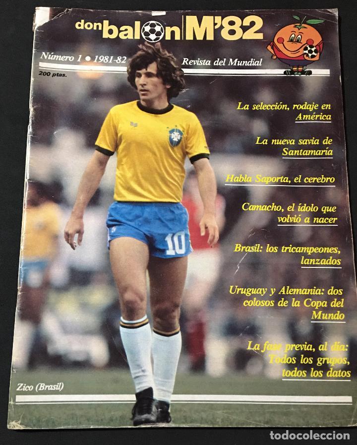 REVISTA DON BALON ESPECIAL MUNDIAL 1982 M'82 NUMERO Nº 1 (Coleccionismo Deportivo - Revistas y Periódicos - Don Balón)