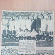 Coleccionismo deportivo: EXCELENTE PERIODICO AS REAL MADRID CAMPEON COPA 1933-34 CONTRA EL VALENCIA C.F ¡¡UNA JOYA!! FUTBOL. Lote 112609467