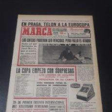Coleccionismo deportivo: MARCA. 2/10/1967. COPA GENERALISIMO. EUROCOPA. CHECOSLOVAQUIA,1 - ESPAÑA,0.. Lote 112620096
