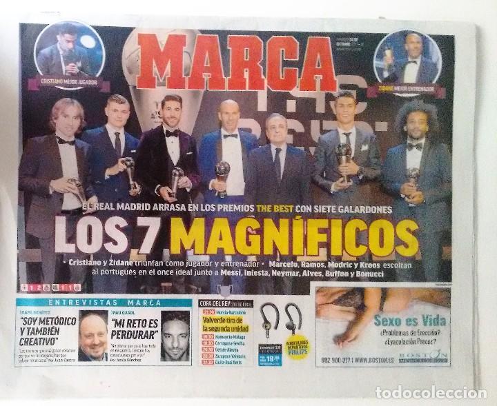 REAL MADRID ARRASA EN LOS PREMIOS THE BEST 2017 (Coleccionismo Deportivo - Revistas y Periódicos - Marca)