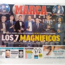 Coleccionismo deportivo: REAL MADRID ARRASA EN LOS PREMIOS THE BEST 2017. Lote 112845235