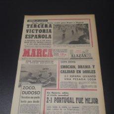 Coleccionismo deportivo: MARCA. 5/05/1968. COPA INTERNACIONAL. ESPAÑOL,2 - MUNICH,0. EUROCOPA. HUNGRIA,2 - UNION SOVIETICA,0.. Lote 112884744