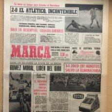 Coleccionismo deportivo: MARCA.22/5/1967. RESULTADOS COPA. IRLANDA,0-CHECOSLOVAQUIA,2.EUROCOPA. Lote 112889495