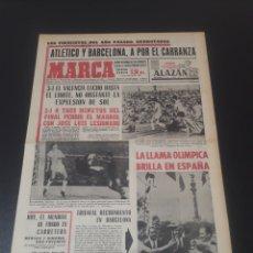 Coleccionismo deportivo: MARCA. 1/09/1968. CARRANZA. ATLÉTICO,3 - VALENCIA,1. R.MADRID,1 - BARCELONA,2.. Lote 112980866