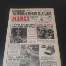Coleccionismo deportivo: MARCA. 2/09/1968. TROFEO. CARRANZA. FINAL. ATLÉTICO,1 - BARCELONA,0.. Lote 112981142