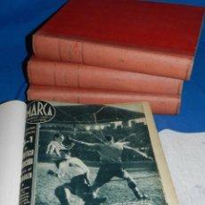 Coleccionismo deportivo: (MF) DIARIO MARCA AÑO 1942 DEL NUM 1 AL NUM 198 ( 4 VOLUMENES ENCUADERNADOS ). Lote 113095687