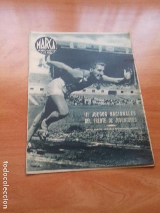 DIARIO MARCA. Nº34. 20-JULIO-1943. III JUEGOS NACIONALES DEL FRENTE DE JUVENTUDES. (Coleccionismo Deportivo - Revistas y Periódicos - Marca)