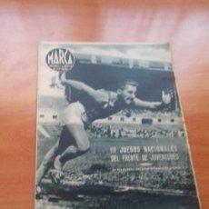 Coleccionismo deportivo: DIARIO MARCA. Nº34. 20-JULIO-1943. III JUEGOS NACIONALES DEL FRENTE DE JUVENTUDES.. Lote 113113439