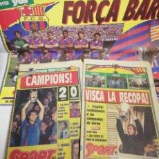 Coleccionismo deportivo: FC BARCELONA SAMPDORIA FINAL RECOPA BERNA 1989 DIARIO SPORT POSTER BARÇA CAMPEON. Lote 113182810