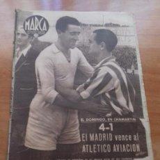 Coleccionismo deportivo: DIARIO MARCA. Nº164. 31-MARZO-1942. 4-1 EL MADRID VENCE AL ATLETICO AVIACION,. Lote 113203951