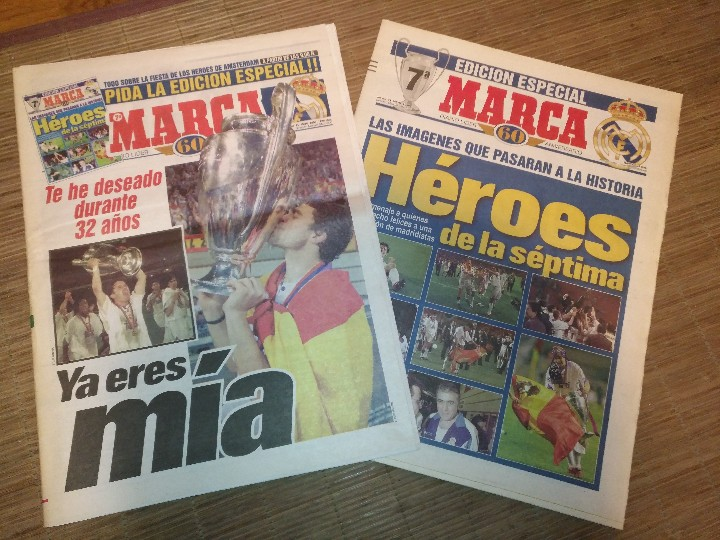 DIARIO MARCA 21 MAYO 1998 + EDICION ESPECIAL REAL MADRID 7ª COPA EUROPA (Coleccionismo Deportivo - Revistas y Periódicos - Marca)