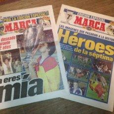 Coleccionismo deportivo: DIARIO MARCA 21 MAYO 1998 + EDICION ESPECIAL REAL MADRID 7ª COPA EUROPA. Lote 113205203