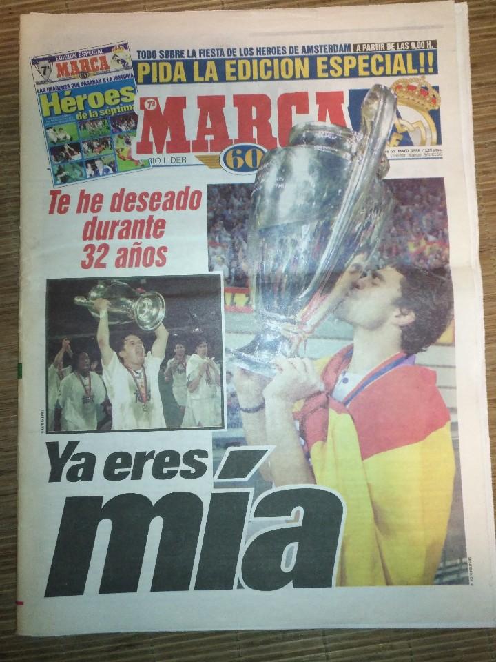 Coleccionismo deportivo: DIARIO MARCA 21 MAYO 1998 + EDICION ESPECIAL REAL MADRID 7ª COPA EUROPA - Foto 2 - 113205203