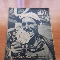 Coleccionismo deportivo: DIARIO MARCA. Nº174. 9-JUNIO-1942. ANTONIO MARTIN, VENCEDOR.. Lote 113205803