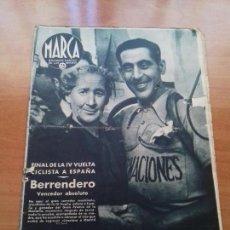 Coleccionismo deportivo: DIARIO MARCA. Nº180. 21-JULIO-1942. FINAL DE LA IV VUELTA CICLISTA A ESPAÑA. BERRENDERO, VENCEDOR.. Lote 113206787