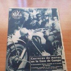 Coleccionismo deportivo: DIARIO MARCA. Nº85. 11-JULIO-1944. CARRERAS DE MOTOS EN LA CASA DE CAMPO.. Lote 113208215