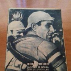 Coleccionismo deportivo: DIARIO MARCA. Nº84. 4-JULIO-1944. BERRENDERO CAMPEON DE ESPAÑA, FONDO EN CARRETERA.. Lote 113208411