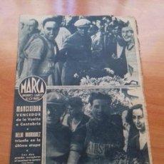 Coleccionismo deportivo: DIARIO MARCA. Nº86. 18-JULIO-1944. MANCISIDOR VENCEDOR DE LA VUELTA A CANTABRIA.. Lote 113208711