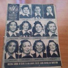 Coleccionismo deportivo: DIARIO MARCA. Nº182. 4-AGOSTO-1942. BALONCESTO ESPAÑA-ITALIA. EL EQUIPO FEMENINO DEL G.U.F. VENCE.. Lote 113209515
