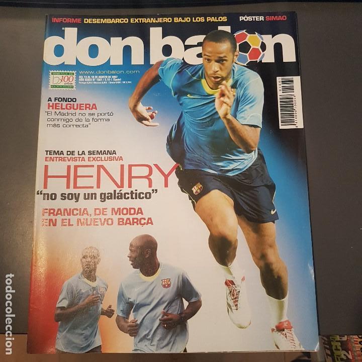 DON BALON Nº 1661 HENRY POSTER SIMAO SABROSA ATLETICO DE MADRID NUEVA (Coleccionismo Deportivo - Revistas y Periódicos - Don Balón)