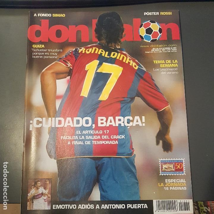 DON BALON Nº 1664 RONALDINHO POSTER ROSSI VILLARREAL NUEVA (Coleccionismo Deportivo - Revistas y Periódicos - Don Balón)