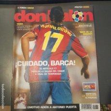 Coleccionismo deportivo: DON BALON Nº 1664 RONALDINHO POSTER ROSSI VILLARREAL NUEVA . Lote 113214923