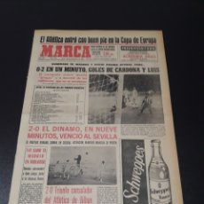 Coleccionismo deportivo: MARCA. 29/09/1966. COPA EUROPA. MALMOE,0 - ATLÉTICO,2. COPA FERIAS. BILBAO,2 - ESTRELLA ROJA,0. DINA. Lote 113263456