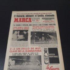 Coleccionismo deportivo: MARCA. 6/10/1966. COPA FERIAS. VALENCIA,2 - NUREMBERG,0. SEVILLA,2 - DINAMO PITESTI,2.. Lote 113269558