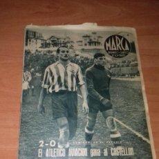 Colecionismo desportivo: DIARIO MARCA. Nº56. 21-DICIEMBRE-1943. 2-0 EL ATLETICO AVIACION GANA AL CASTELLON.. Lote 113297027