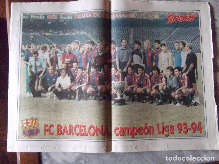 Coleccionismo deportivo: SPORT-Nº5314-AG 94-COMP 64 PAG-HAGI-ROMARIO-CRUYFF-BEBETO-MARADONA-POSTER,BARSA 93-94- - Foto 3 - 245566425