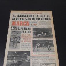 Coleccionismo deportivo: MARCA. 10/06/1971. COPA. BARCELONA,4 - CORUÑA,0. SEVILLA,2 - SAN ANDRÉS,0. TORPEDO MOSCÚ,0 - ESPAÑOL. Lote 113703588
