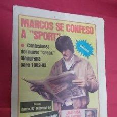Coleccionismo deportivo: SPORT Nº 780. 22 ENERO 1982 CONFESIONES DEL NUEVO CRACK BLAUGRANA PARA 1982-83 LOS 16 GOLES DE QUINI. Lote 114010707
